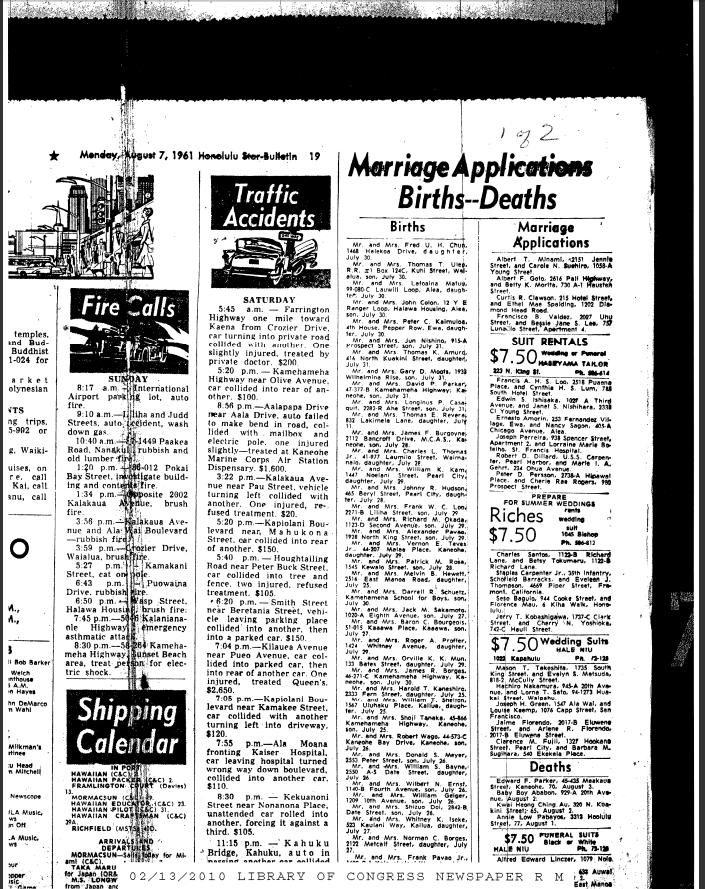 Articles Are Obamas 1961 Birth Announcements Fake – Birth Announcement in Newspaper