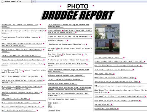 Drudge 5/3/2011 11:50 A.M.