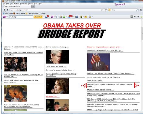 Drudge Birther link