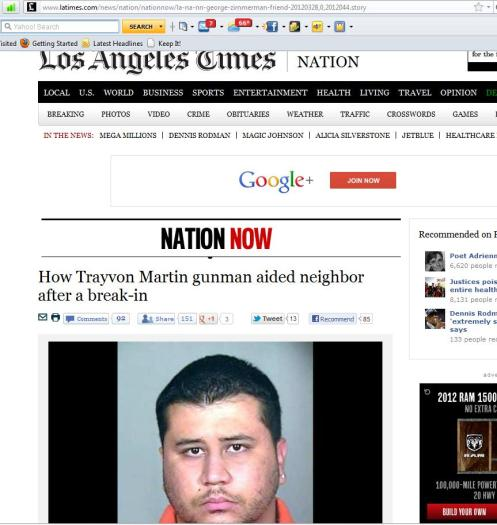 LA Times - By Richard Fausset, 3/28/2012