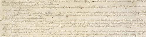 Crop of image Article ll Section 1 US Constitution