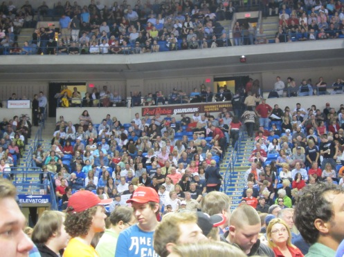 Stadium filled up early for Donald J Trump rally, Wilkes Barre PA 4/25/2016